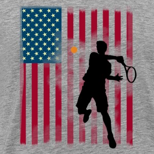 stjärna tennis US Open Amerika flagg tibreak Player - Premium-T-shirt herr