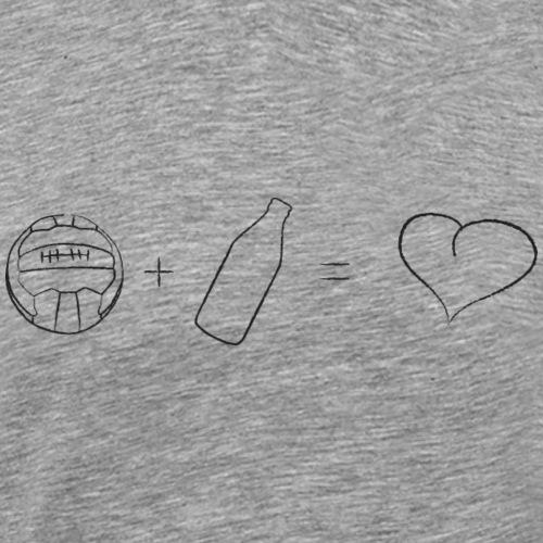 Fußball + Bier = ♥ - Männer Premium T-Shirt