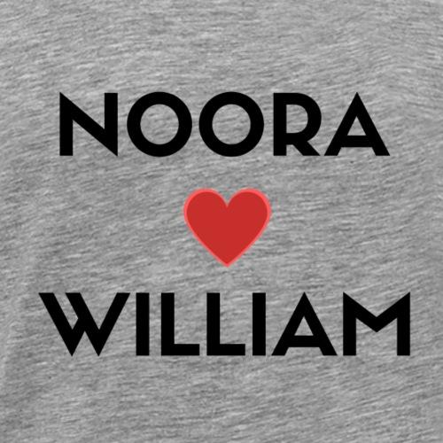 SKAM NOORA + WILLIAM - Premium T-skjorte for menn