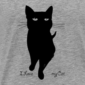 i_love_my_cat - Herre premium T-shirt