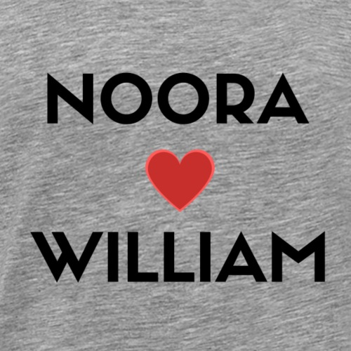 SKAM NOORA + WILLIAM - Premium T-skjorte for menn