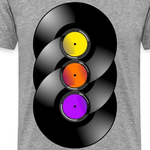 Vinyl Chakra - Männer Premium T-Shirt