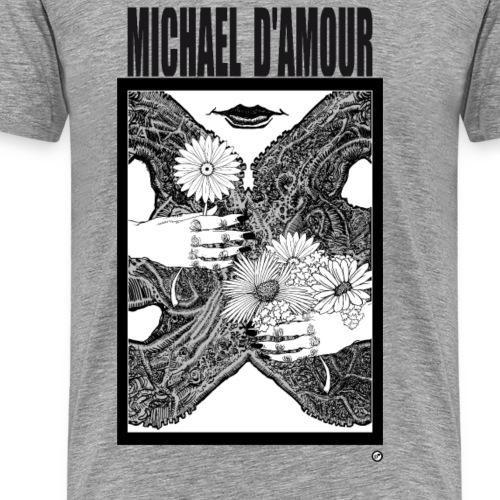 Michael D'Amour Fleur noir édition limitée - T-shirt Premium Homme