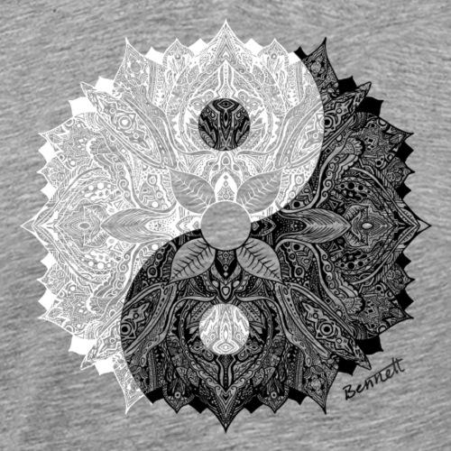 Mandala Yin Yang - Mannen Premium T-shirt