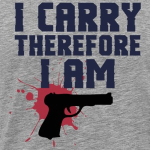Therefore I am - guns - Men's Premium T-Shirt
