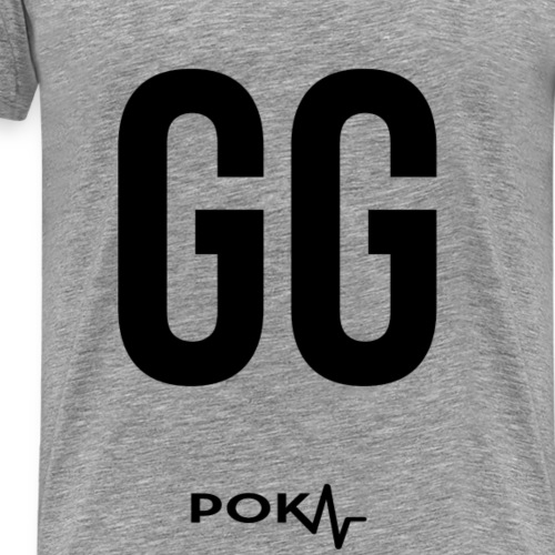 "Poker Apparel ""GG"" – Black Version - Männer Premium T-Shirt"