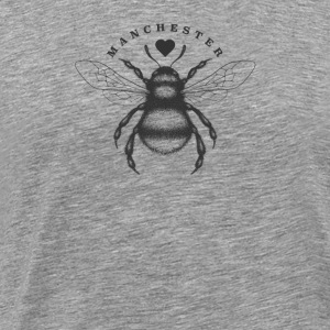 Traditional worker bee and love heart Manchester - Men's Premium T-Shirt