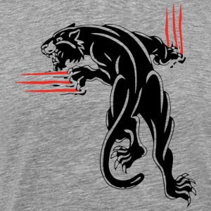 BLACK ANIMAL JUNGLE WILD CAT - Männer Premium T-Shirt