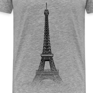 Around The World: Torre Eiffel - Parigi - Maglietta Premium da uomo