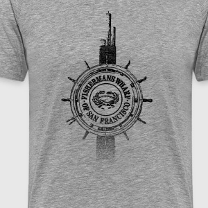 Around The World: Fishermans Wharf - S. Francisco - Premium T-skjorte for menn
