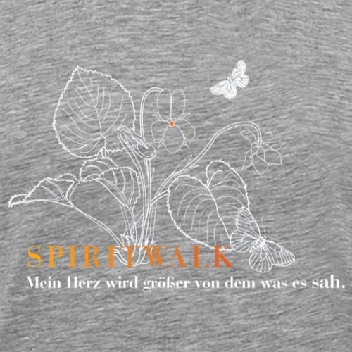SpiritWalk.UlrikeLeye.WeissOrange - Männer Premium T-Shirt