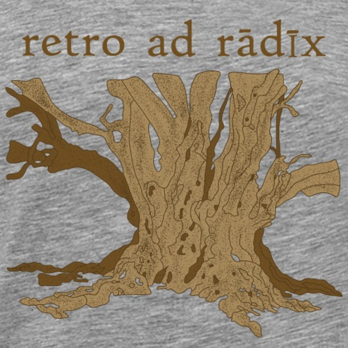 zurück zu den Wurzeln auf Lateinisch, in braun - Männer Premium T-Shirt