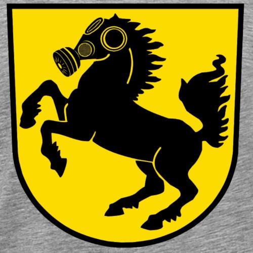 Stuttgart Wappen Feinstaub-Rössle - Männer Premium T-Shirt