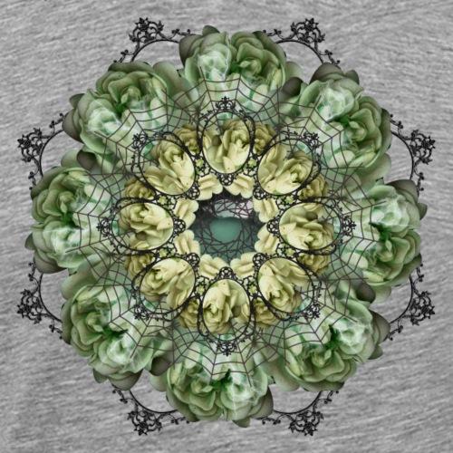 spooky flowers mandala - Men's Premium T-Shirt