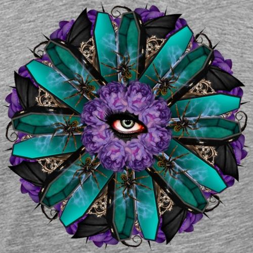 purple vampire mandala - Men's Premium T-Shirt