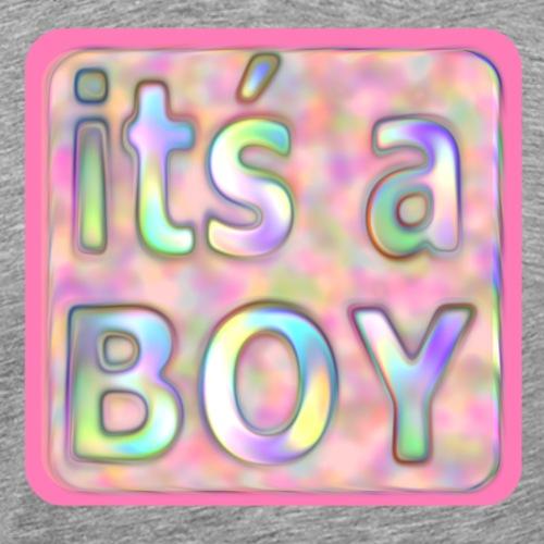 its a boy rosa text skylt - Premium-T-shirt herr