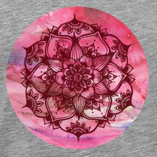 Mandalas rose - T-shirt Premium Homme