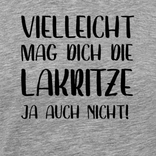 Lakritz Bärendreck Süßholz Lakritze Geschenk - Männer Premium T-Shirt