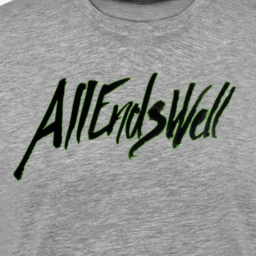 AllEndsWell Logo Schwarz - Männer Premium T-Shirt