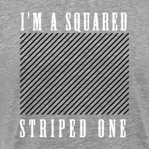 striped squared - T-shirt Premium Homme
