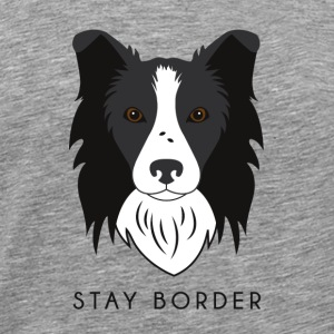 Border-Collie - Dark - Männer Premium T-Shirt