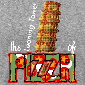 The Leaning Tower Of Pizza - Männer Premium T-Shirt