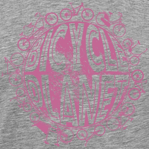Fahrrad Rennrad Mountainbike Bicycle Planet - Männer Premium T-Shirt
