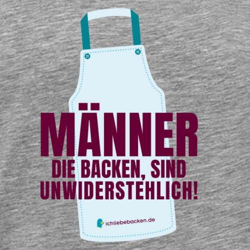 Maenner die backen sind unwiderstehlich - Männer Premium T-Shirt