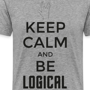 Keep Calm and be logical (dunkel) - Männer Premium T-Shirt