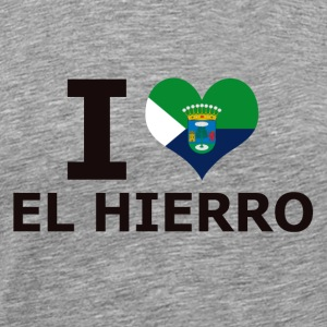 I LOVE EL HIERRO FLAG - Men's Premium T-Shirt