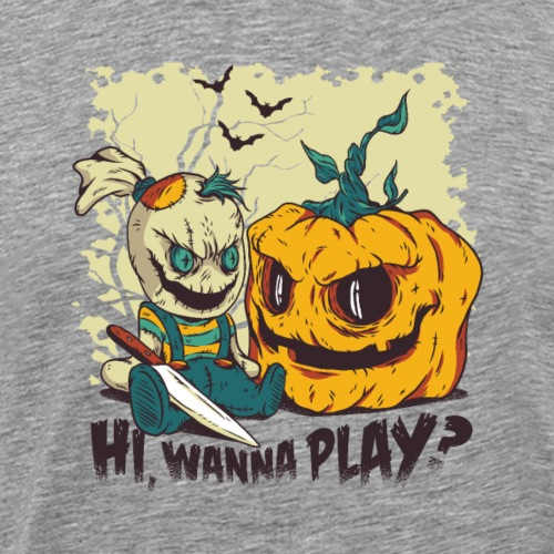 Hi, wanna play halloween 2018 - Männer Premium T-Shirt