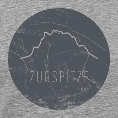 Zugspitze Kontur auf Holzplatte - Männer Premium T-Shirt