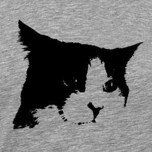 Black / White Cat - Men's Premium T-Shirt