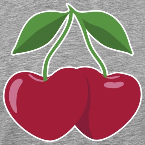 cherries and hearts - Maglietta Premium da uomo