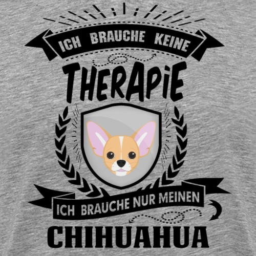 Therapie Chihuahua BLK - Männer Premium T-Shirt