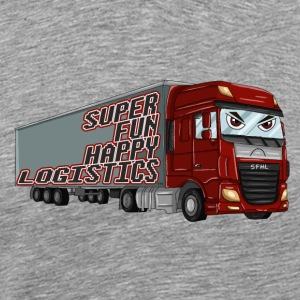 Super Spaß Happy Logistics - Männer Premium T-Shirt