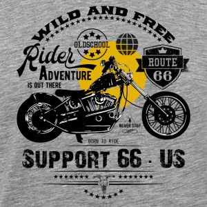 Rider · Support 66 - Men's Premium T-Shirt