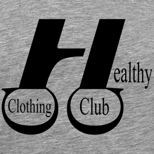 Healthy clothing club black - Men's Premium T-Shirt