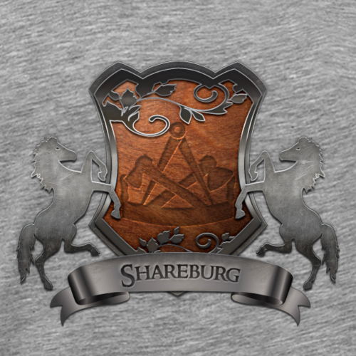 Shareburg Familienwappen - Männer Premium T-Shirt