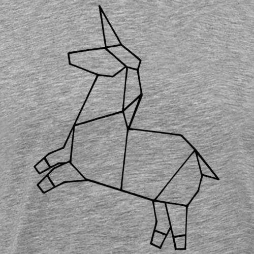 Origami Einhorn - Männer Premium T-Shirt