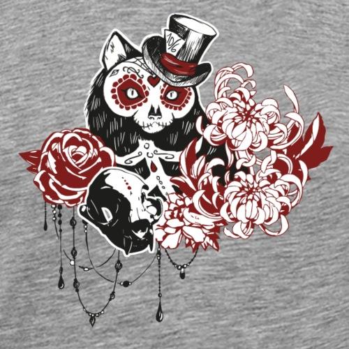 skull cat - T-shirt Premium Homme