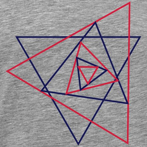 Dreieck, Grafik, geometrisch, abstrakt, Muster - Männer Premium T-Shirt