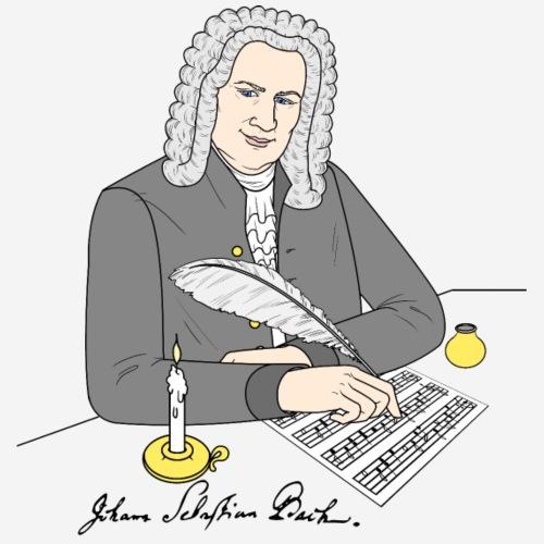Johann Sebastian Bach als Zeichnung - Männer Premium T-Shirt