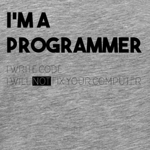 I'M A PROGRAMMER - Maglietta Premium da uomo
