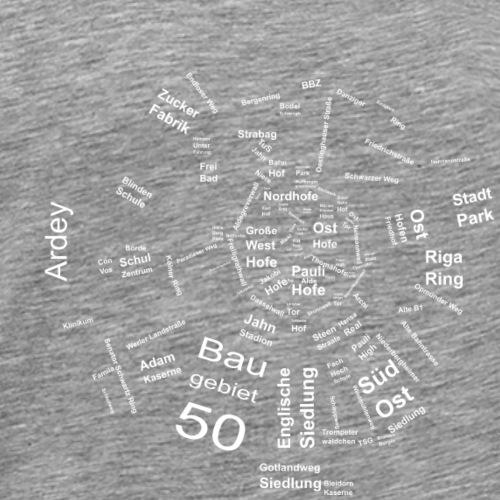 Soester Karte dunkel - Männer Premium T-Shirt