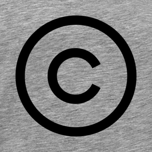 copyright logo - Herre premium T-shirt
