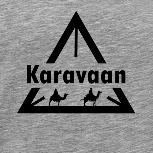 Karavaan Black (High Res) - Mannen Premium T-shirt