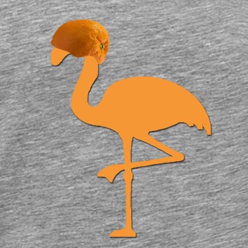 Orange Flamingo - Männer Premium T-Shirt