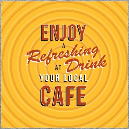 Enjoy Refreshing drinks bord / poster - Mannen Premium T-shirt