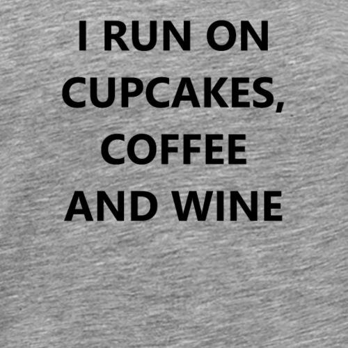 i run on cupcakes - Männer Premium T-Shirt